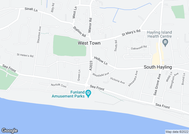 Map for Hayling Island