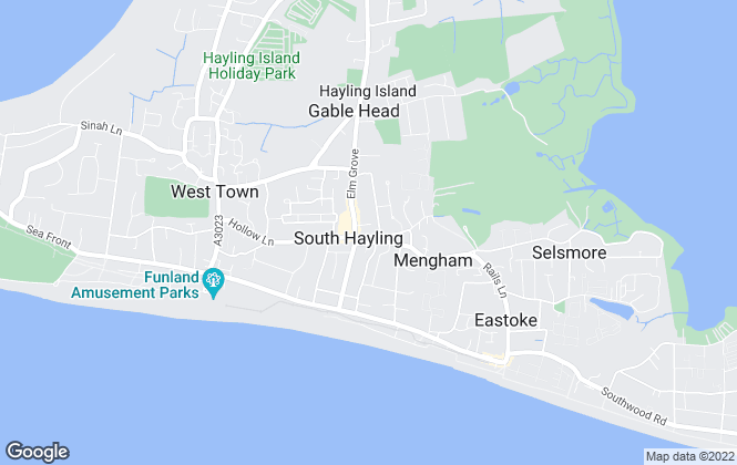Map for Millers of Hayling, Hayling