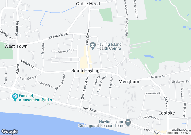 Map for MENGHAM ROAD, HAYLING ISLAND