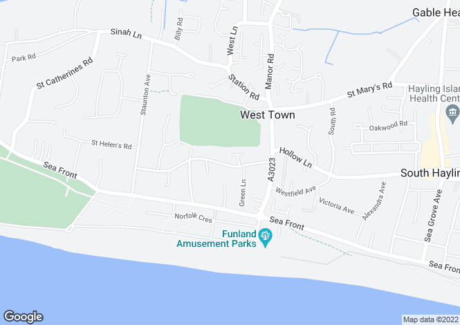 Map for Bacon Lane, Hayling Island, Hampshire