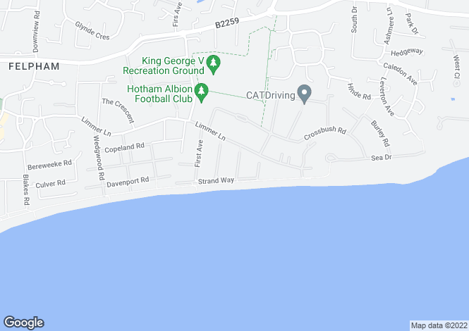 Map for Third Avenue, Felpham, West Sussex, PO22
