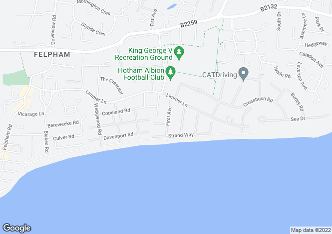 Map for Felpham, Bognor Regis, West Sussex
