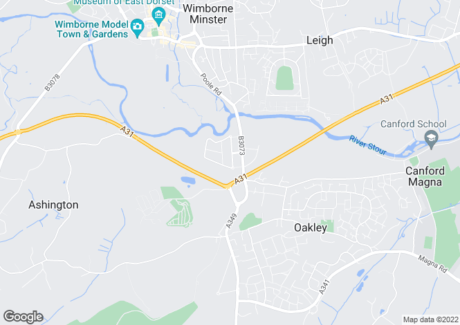 Map for Merley Ways, Wimborne, Dorset, BH21 1QN