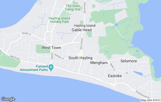 Map for Hayling Property, Hayling