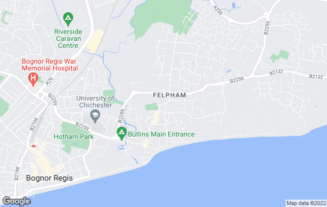 Map for King & Chasemore, Felpham