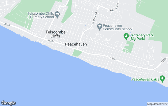 Map for Cubitt & West, Peacehaven
