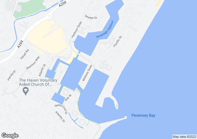 Map for MacQuerie Quay Eastbourne