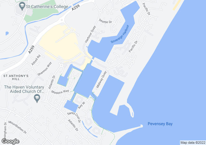 Map for Rapala Court, Sovereign Harbour North, Eastbourne, East Sussex