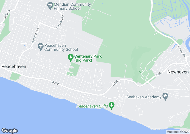 Map for Cissbury Avenue, Peacehaven