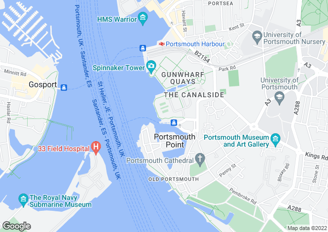 Map for Arethusa House, Gunwharf Quays, Portsmouth, Hants