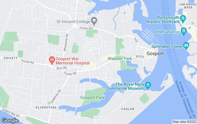 Map for David Seymour, Gosport