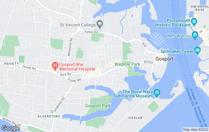 Map for ASPIRE `for your home`, Gosport