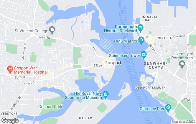 Map for Beals, Gosport