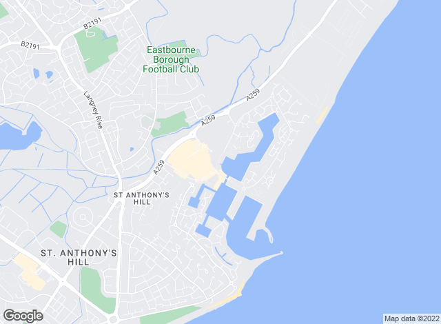 Map for Waterside Properties, Pevensey Bay