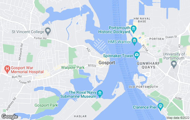 Map for Mann, Gosport