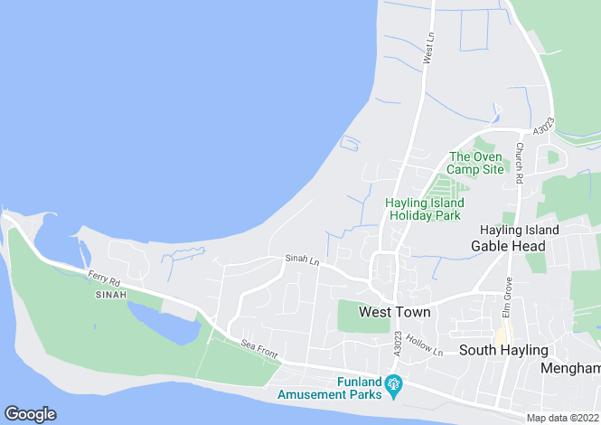 Map for Hayling Island, Hampshire