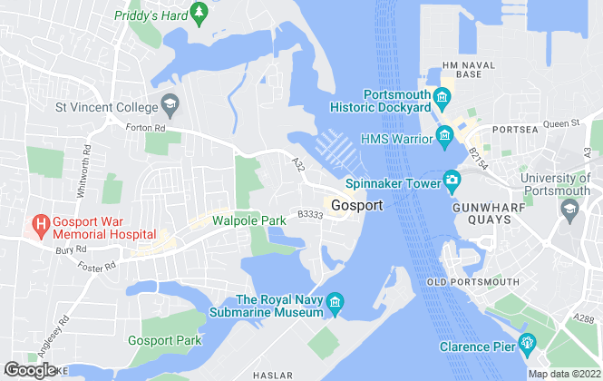 Map for Martin & Co, Gosport - Lettings & Sales