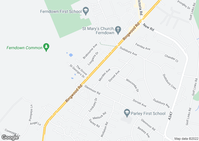 Map for Ringwood Road,