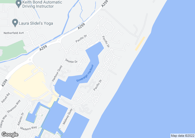 Map for Pacific Heights North, Sovereign Harbour North, Eastbourne, East Sussex, BN23 5PT