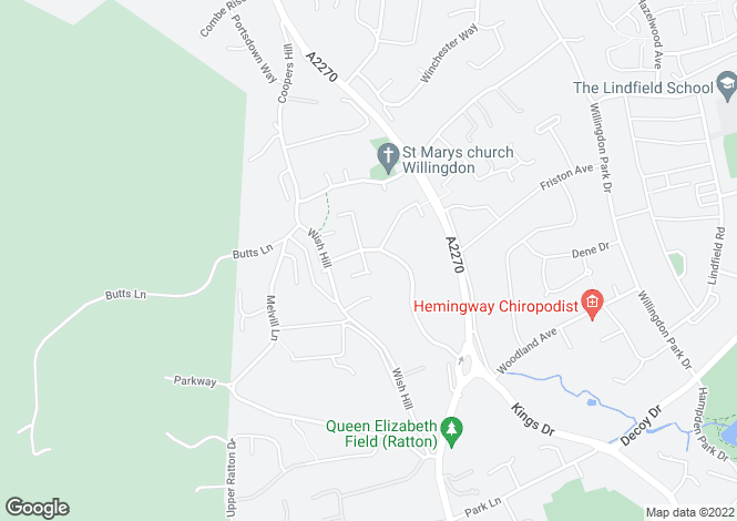 Map for Upper Kings Drive, Eastbourne, East Sussex