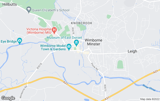 Map for Dorset Lettings, Wimborne