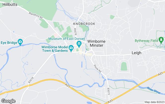 Map for Trowbridge & Fulton, Wimborne