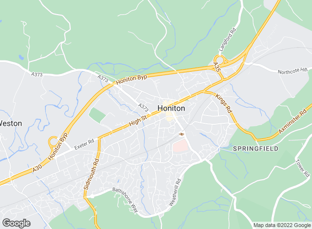 Map for Bradleys, Honiton