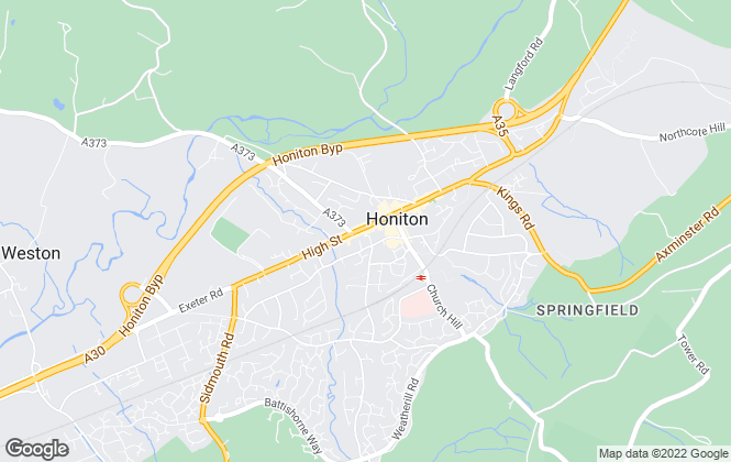 Map for Bradleys Property Rentals, Honiton