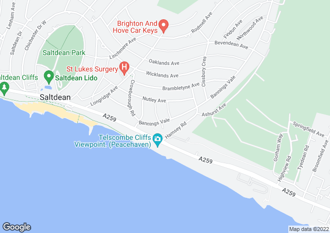 Map for Saltdean, East Sussex