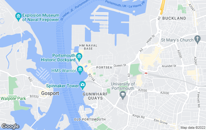 Map for The Flat Agency, Southsea