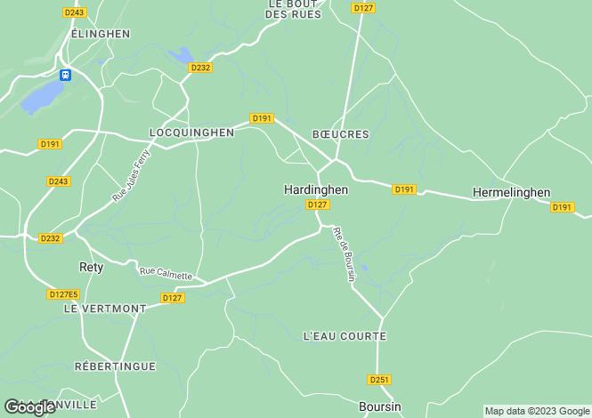 Map for hardinghen, Pas-de-Calais, France