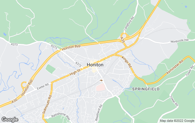 Map for Fulfords, Honiton