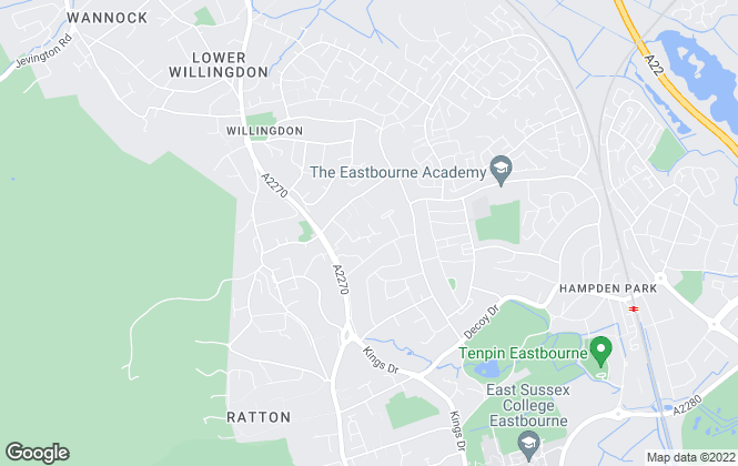 Map for Angela Marden Estate Agents, Eastbourne