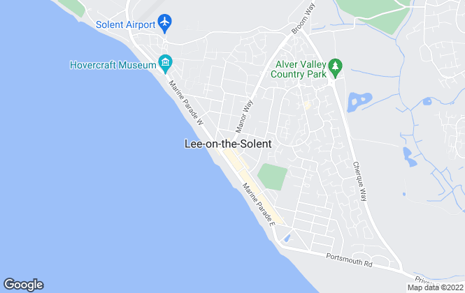 Map for Eckersley White, Lee-On-The-Solent