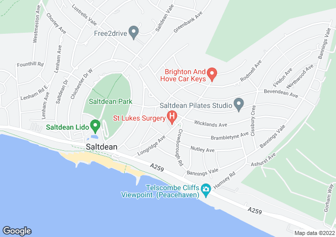 Map for Longridge Avenue,