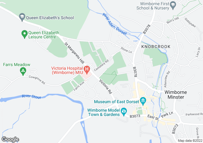 Map for REDCOTTS ROAD, WIMBORNE