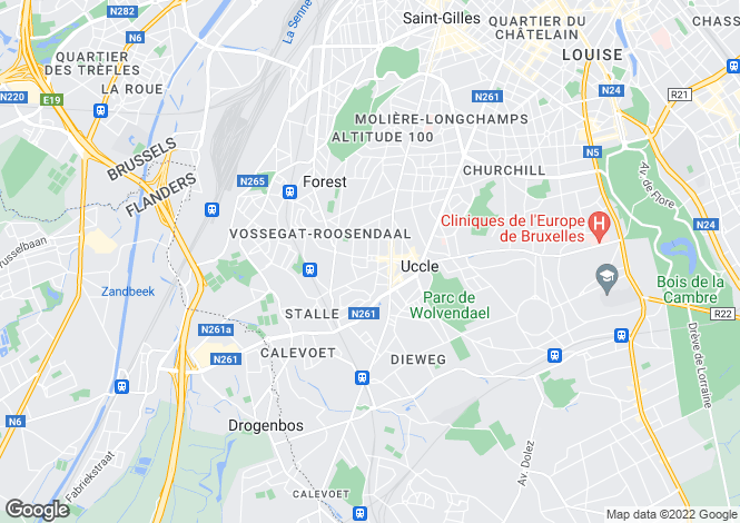 Map for UCCLE,