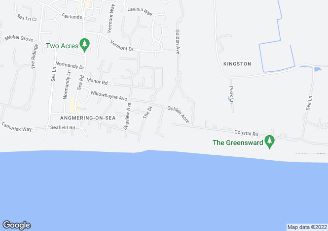 Map for Sandpipers, Golden Acre, East Preston, West Sussex, BN16