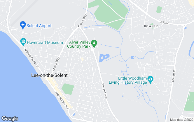 Map for Prospect, Lee-On-The-Solent