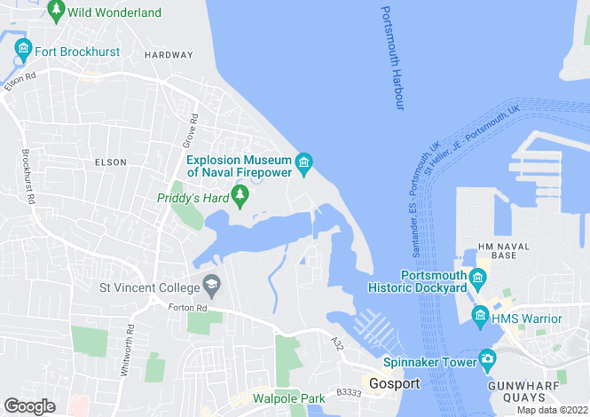 Map for 4 Searle Drive, GOSPORT, Hampshire