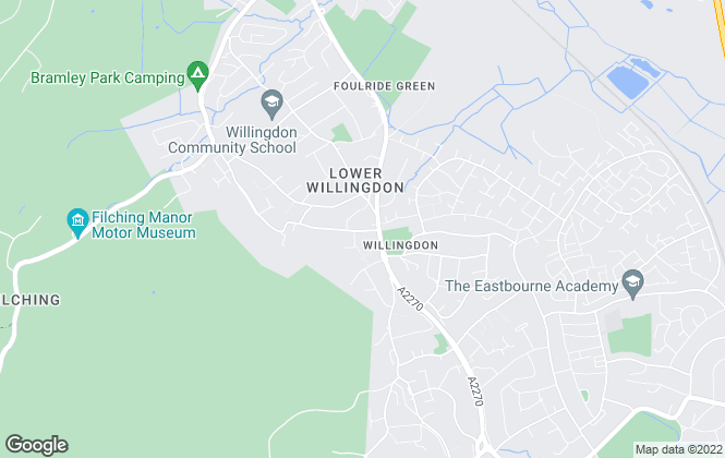 Map for The Exchange Property Services, Willingdon