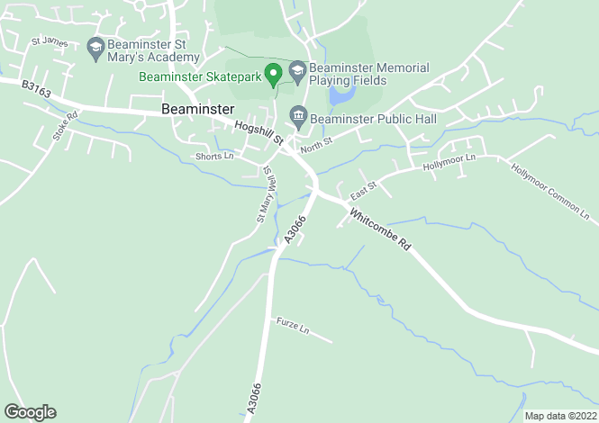 Map for Bridport Road, Beaminster, Dorset
