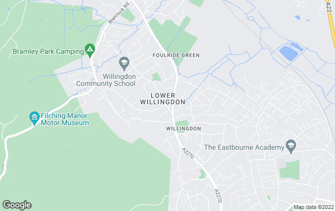 Map for Ross & Co, Willingdon