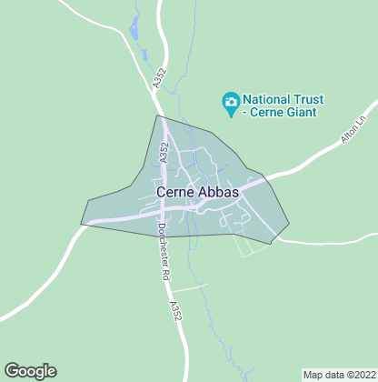 Map of property in Cerne Abbas
