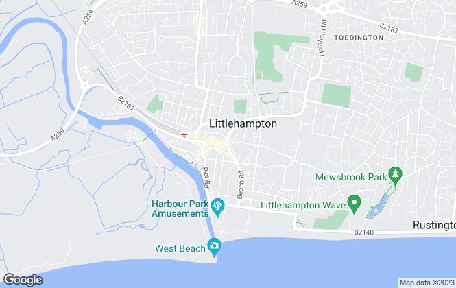 Map for Graham Butt Estate Agents, Littlehampton - Lettings