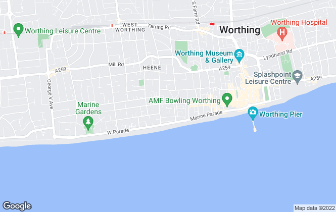 Map for Matthew Anthony Estate Agency, Worthing