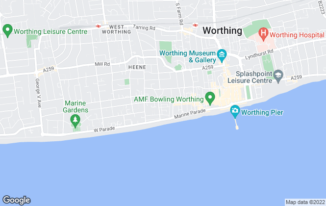 Map for Howard & Co, Worthing