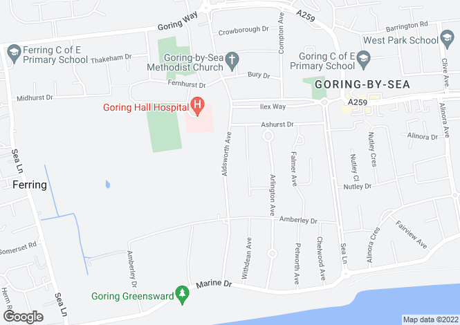 Map for GORING HALL DETACHED PROPERTY