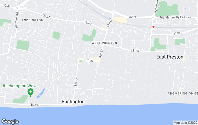 Map for Cooper Adams Estate Agents, Rustington