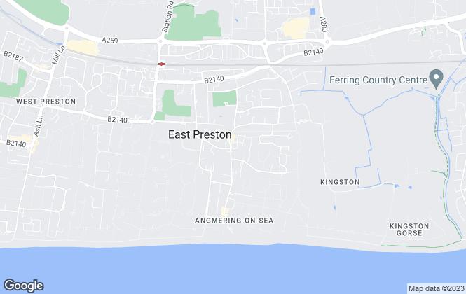 Map for Graham Butt Estate Agents, East Preston